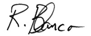 Ray Blanco's signature