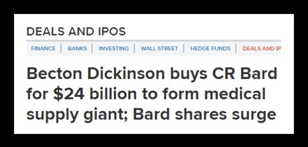 C. R. Bard News Clipping