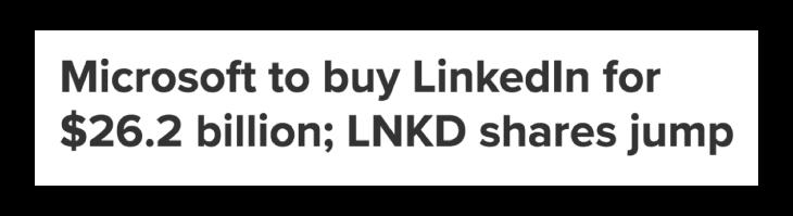 LinkedIn News Clipping