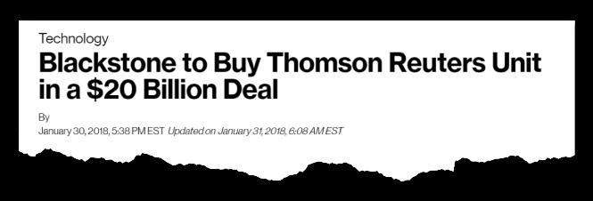 Thomas Reuters News Clipping