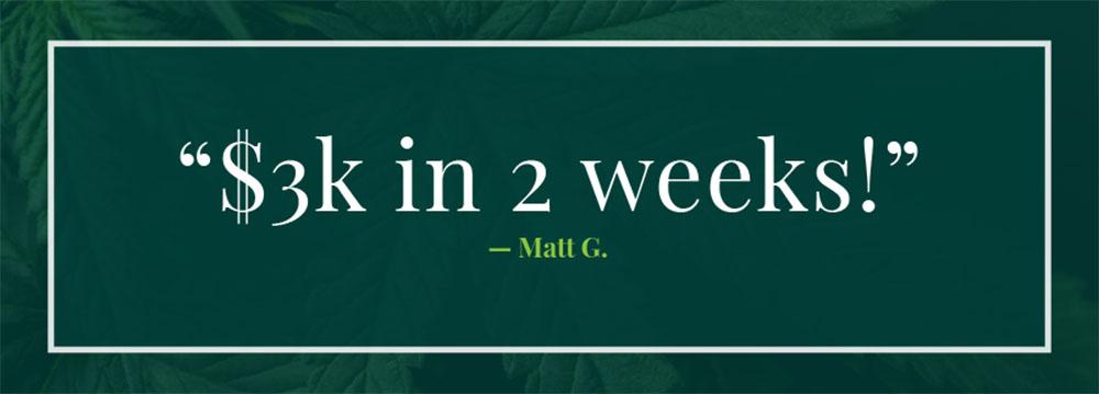 Matt G. Testimonial
