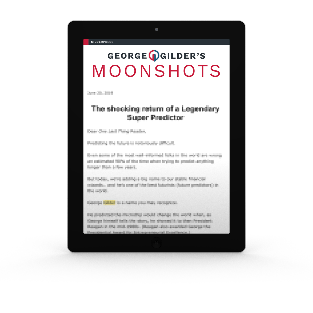 Moonshots on iPad