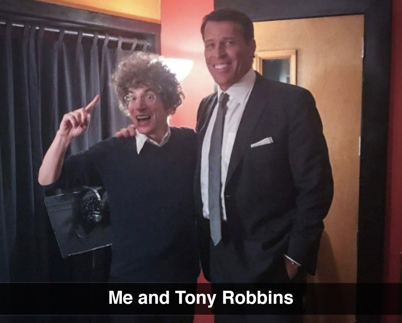 James with Tony Robbins