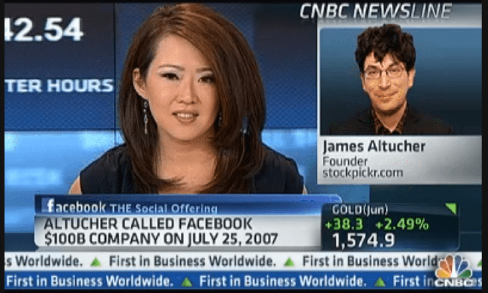 James on CNBC Calling Facebook $100B Company