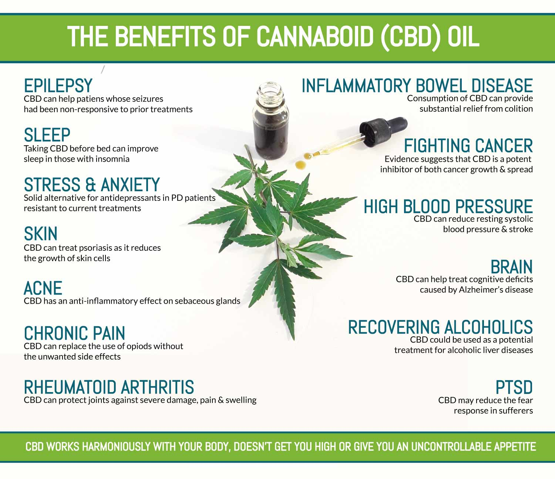Benefits of CBD Oil Infographic