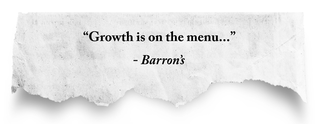 quote: Growth is on the menu..., Barron's
