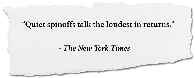 quote: Quiet spinoffs talk the loudest in returns, New York Times